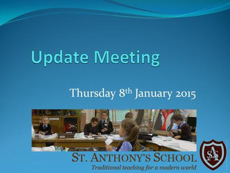 Thursday 8 th January 2015. To provide an update on the work and new structure of the Governing Body To present the results of the questionnaire.
