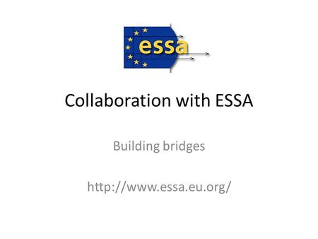 Collaboration with ESSA Building bridges