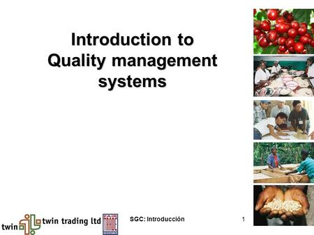 SGC: Introducción1 Introduction to Quality management systems.