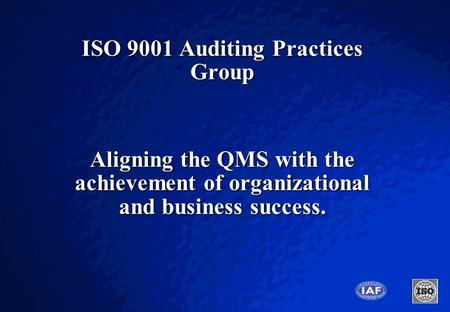 ISO 9001 Auditing Practices Group