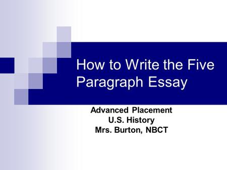 which choice describes a body paragraph in an essay
