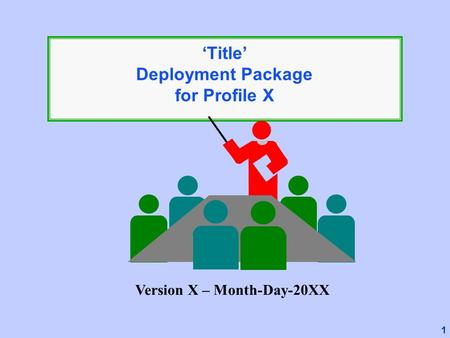 1 'Title' Deployment Package for Profile X Version X – Month-Day-20XX.