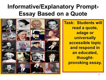 When writing an essay, do the quotes you use have to be in chronological order?