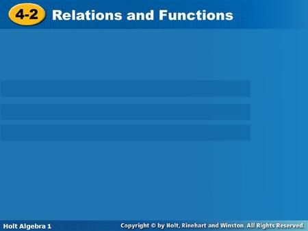 Relations and Functions