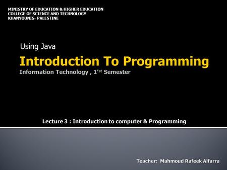 introduction of science and technology This subject is aimed at students with little or no programming experience it aims to provide students with an understanding of the role computation can play in.
