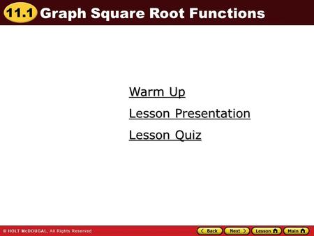 Graph Square Root Functions