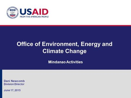 Office of Environment, Energy and Climate Change
