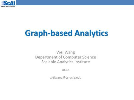 Graph-based Analytics