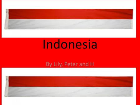 Indonesia By Lily, Peter and H. General Facts There are around 250 million people living in Indonesia. There are 17,500 islands. The capital of Indonesia.