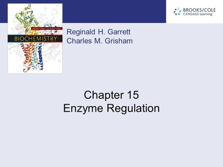 Reginald H. Garrett Charles M. Grisham Chapter 15 Enzyme Regulation.