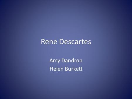 Amy Dandron Helen Burkett