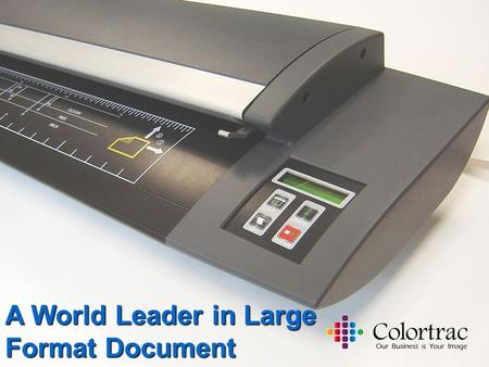A World Leader in Large Format Document Scanning.