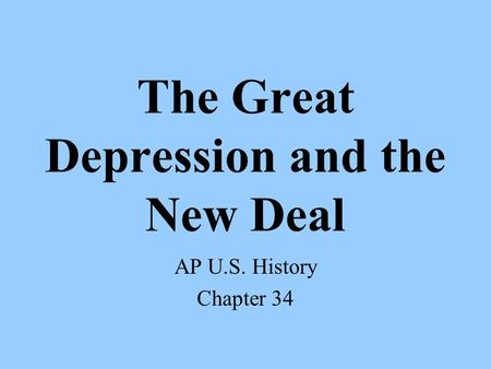 the great depression and the new deal history essay Great depression and new deal questions and answers - discover the enotescom community of teachers, mentors and students just like you that can answer any question you might have on great .