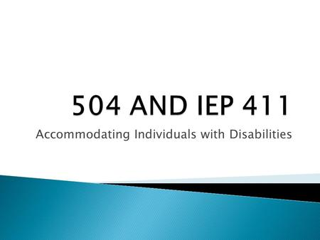 Accommodating Individuals with Disabilities. Is this your guide?