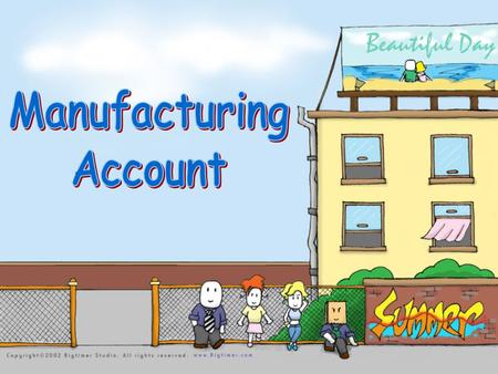 Supplies of raw materials Manufacturing a/c  calculate the production cost A Manufacturing firm (make the product) Customers.