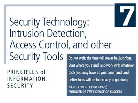 Introduction Intrusion: type of attack on information assets in which instigator attempts to gain entry into or disrupt system with harmful intent Intrusion.