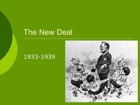 The New Deal 1933-1939. FDR's Fireside Chats.