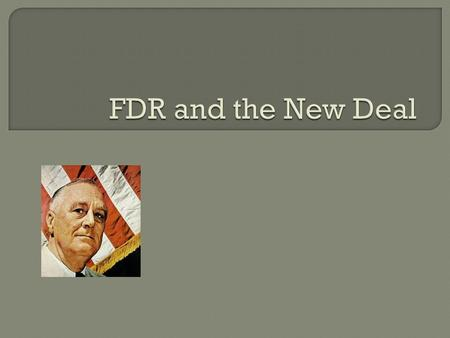 " When FDR was elected he promised ""bold, persistent experimentation"" People didn't know what he meant but they knew he would do something  Relief, recovery,"