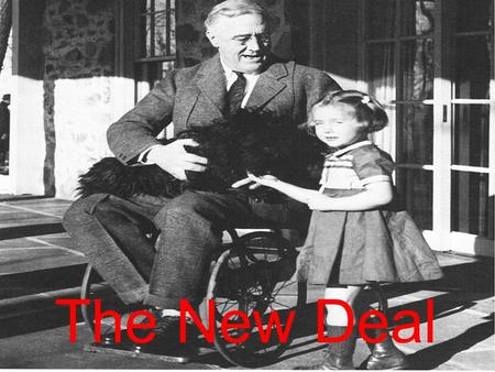The New Deal. FDR's plan to end the Great Depression. A series of government programs that FDR put through Congress to boost the U.S economy.