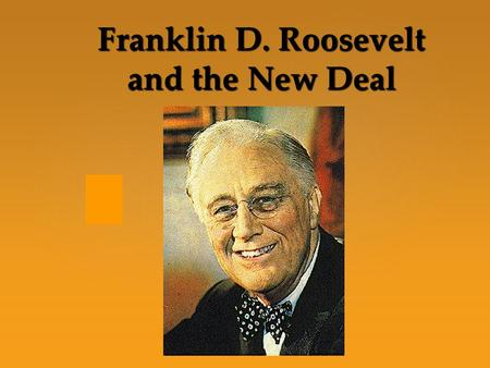 "{ Franklin D. Roosevelt and the New Deal. CONGRESS GETS BUSY  FDR's philosophy: get people help & work through ""deficit"" spending During the famous."