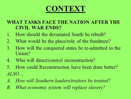 the great task of rebuilding america after the civil war The problems of the reconstruction after  that was supposed to be the rebuilding of america  more about the problems of the reconstruction after the civil war.