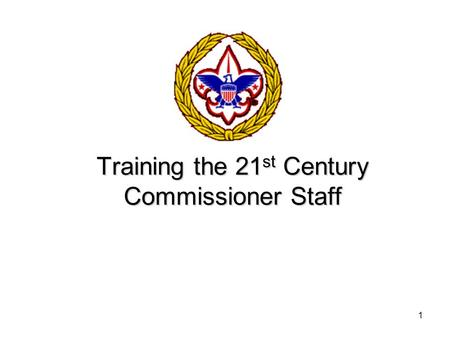 1 Training the 21 st Century Commissioner Staff. 2 Paul Madden Council Commissioner Baltimore Area Council (410) 347-8742 Training.