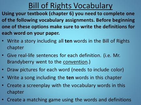 """essays over the bill of rights The first ten amendments of our constitution are called """"the bill of rights fought over a country's overall religion the first amendment declares that."""