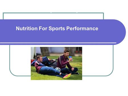 Understanding Fuel Usage for Energy in Sport Nutrition For Sports Performance.