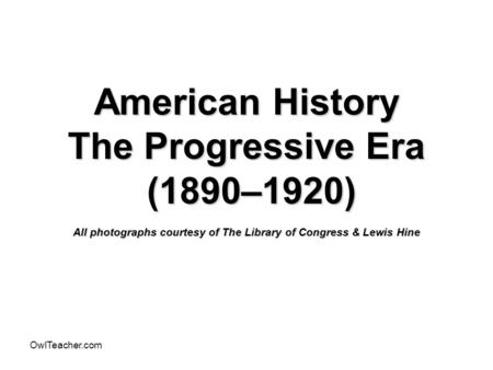 Infographic: Reform Movements of the Progressive Era