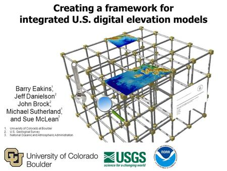 Barry Eakins, Jeff Danielson John Brock, Michael Sutherland, and Sue McLean Creating a framework for integrated U.S. digital elevation models 1.University.