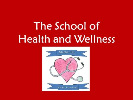 The School of Health and Wellness. Our Philosophy The School of Health and Wellness prepares students to become lifelong learners who understand the importance.