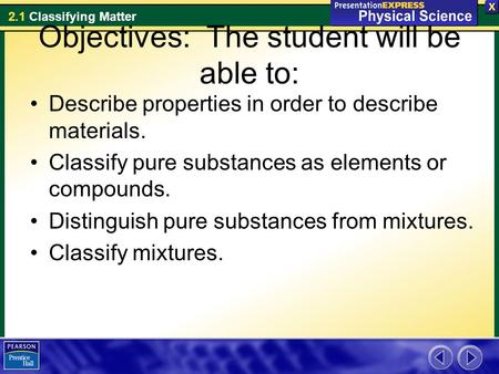 Objectives: The student will be able to: