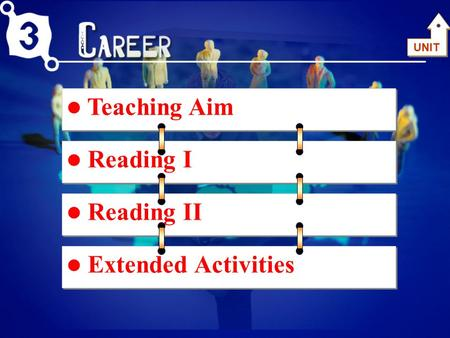 Teaching Aim <strong>Reading</strong> I <strong>Reading</strong> II Extended Activities UNIT.