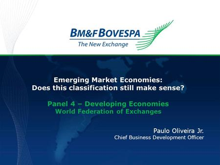 Emerging Market Economies: Does this classification still make sense?