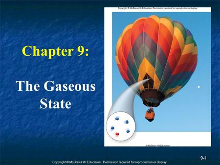 Chapter 9: The Gaseous State.