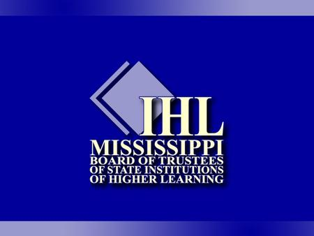 Institutional Executive Officer Search Process as adopted by the Mississippi Board of Trustees of State Institutions of Higher Learning.