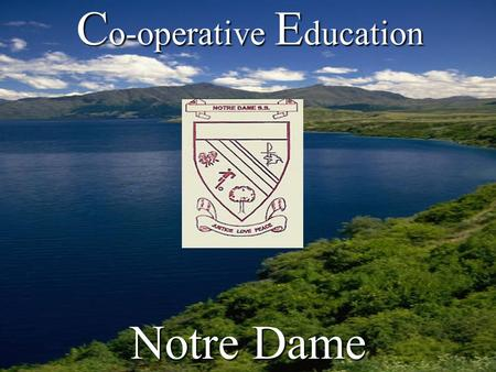 C o-operative E ducation Notre Dame. What is your Pathway? A Pathway is a choice, a road to get from here to there. Sometimes the path is easy, sometimes.