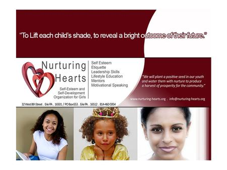 Program Introduction The significance of The Nurturing Hearts Program: Nurturing Hearts is committed to community building. We establish relationships.