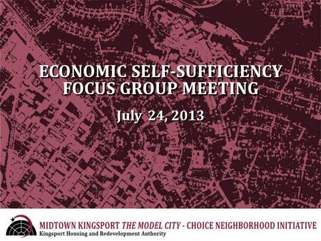 ECONOMIC SELF-SUFFICIENCY FOCUS GROUP MEETING July 24, 2013.