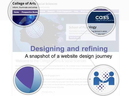Designing and refining A snapshot of a website design journey.