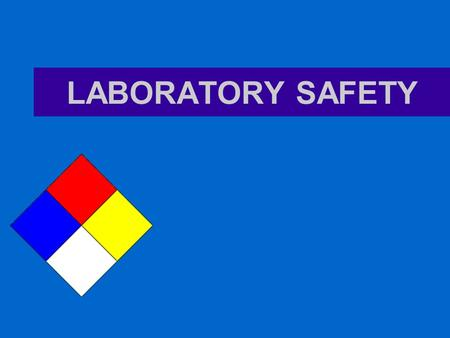 LABORATORY SAFETY. PPE Personal Protective Equipment.