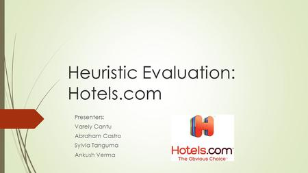 Heuristic Evaluation: Hotels.com