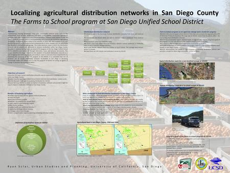 Localizing agricultural distribution networks in San Diego County The Farms to School program at San Diego Unified School District Abstract Contemporary.