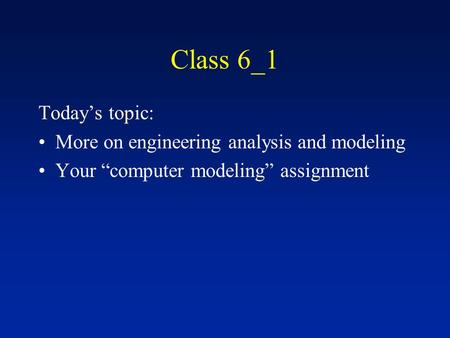 an introduction to the analysis of a class Introduction to object oriented programming concepts (oop) and more  class is composed of three things:  and are used for both analysis and design purposes.