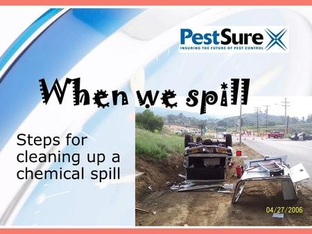 Steps for cleaning up a chemical spill