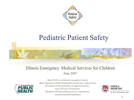 Pediatric Medication Safety in the Emergency Department