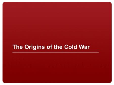 an introduction to the cold war the tension between the soviet union and the united states of americ There were long seeded differences between the united states and the soviet union cold war ideological differences ideological differences rising tensions.