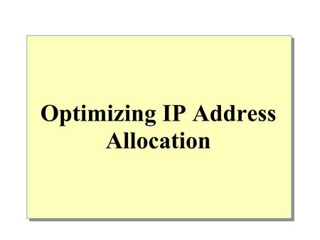 Optimizing IP Address Allocation. Overview Classless Inter-Domain Routing (CIDR ) Binary IP Addresses Binary Subnet Masks IP Address Allocation Using.