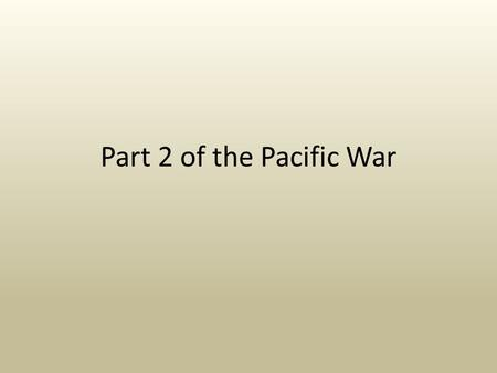 Part 2 of the Pacific War. The U.S. Turns the Tide The Japanese military government underestimated the manufacturing might of the U.S. Aircraft production.