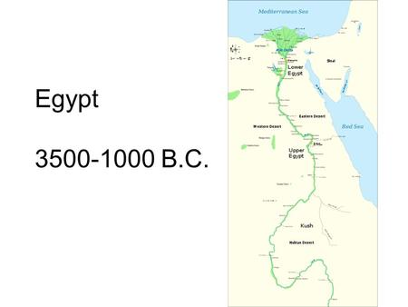 Egypt 3500-1000 B.C.. Egyptian Timeline 3500-3100 - Predynastic Period 3100-2700 - Early Dynastic Period 2700-2100 - Old Kingdom 2100-1700 - Middle Kingdom.